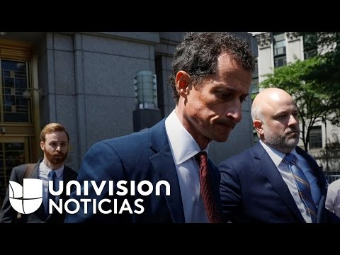 El excongresista Anthony Weiner se declara culpable de enviar mensajes sexuales a una menor