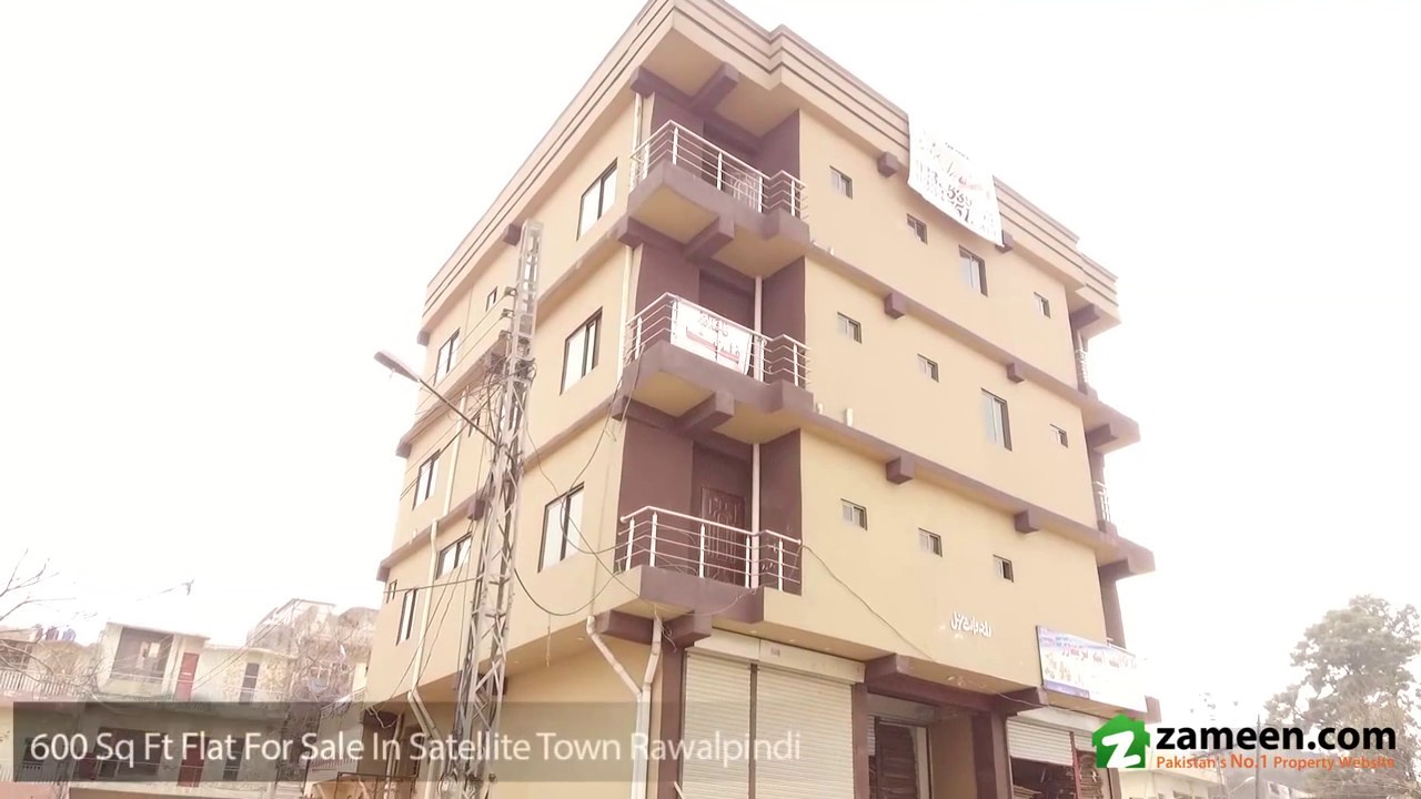 600 Sq  Ft  FLAT IS AVAILABLE FOR SALE IN SATELLITE TOWN RAWALPINDI