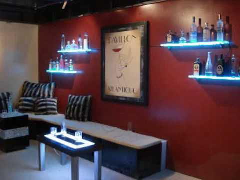 Led Wall Mounted Bar Shelf Bar Display Youtube