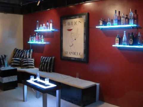 Led Wall Mounted Bar Shelf Bar Display Youtube