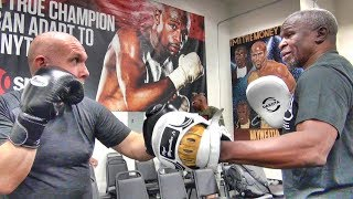 What's it like to train with Floyd Mayweather Sr.?  Check out this full training session!