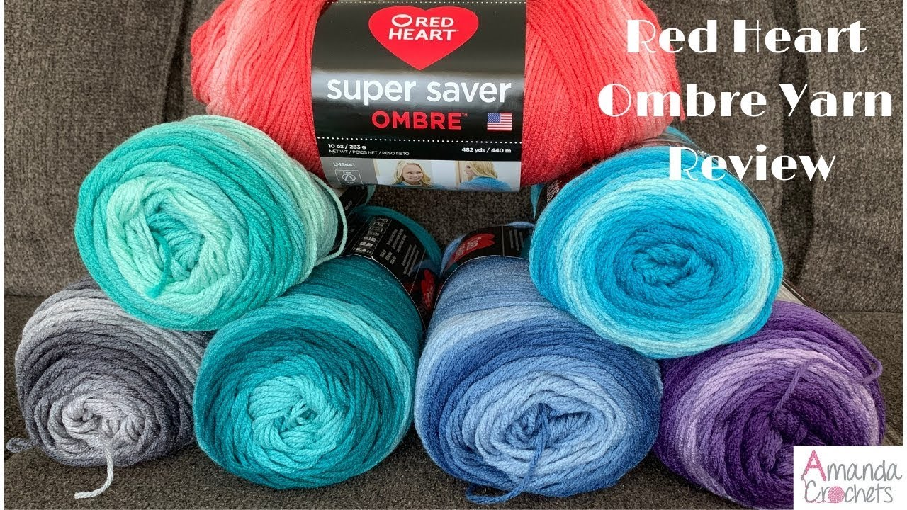 Red Heart Ombre Yarn Review - Amanda Crochets