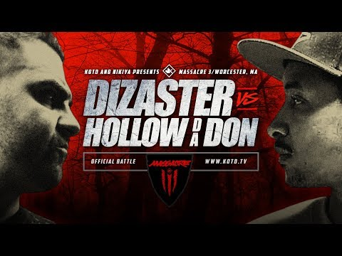 KOTD - Rap Battle - Dizaster vs Hollow Da Don | #MASS3
