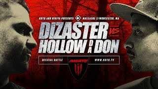 Gambar cover KOTD - Rap Battle - Dizaster vs Hollow Da Don | #MASS3
