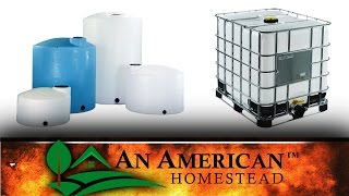 Get Cheap Water Storage For Your Off Grid Homestead