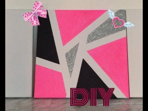 diy super easy painting for girls rooms noj youtube. Black Bedroom Furniture Sets. Home Design Ideas