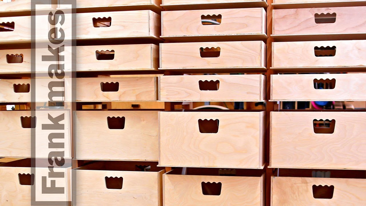 Frank Howarth Builds 64 Garage Drawers On A Pantorouter Mortise