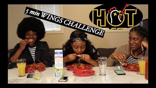 EXTREMELY HOT 🔥ATOMIC HOT WINGS CHALLENGE || 5 MINS CHALLENGE FAILED!
