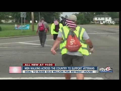 Men walking across the country to support veterans