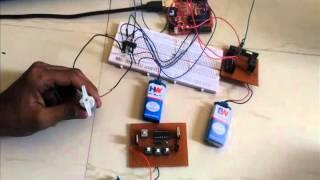 wireless DC motor control using RF module