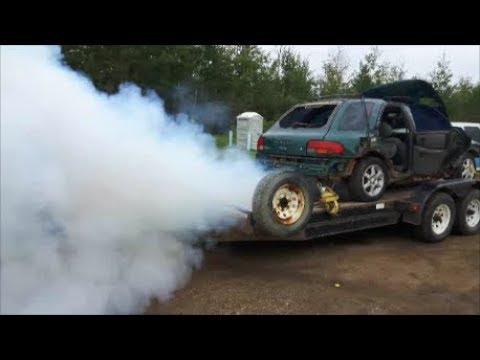 How to blow up a Subaru! Revs 9000rpms!
