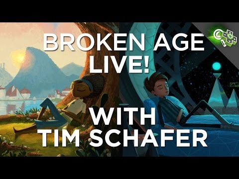 Broken Age Part 1 Gameplay Demo With Tim Schafer, Adam Sessler, And Anthony Carboni!