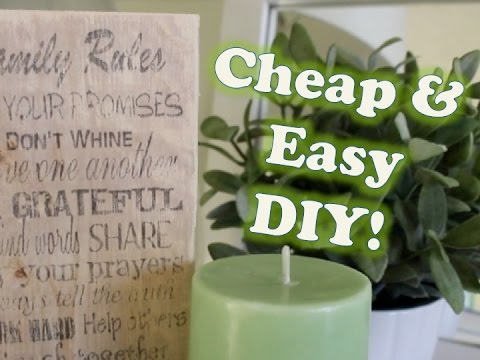 $1 DIY GIFT IDEA! | Print on Wood