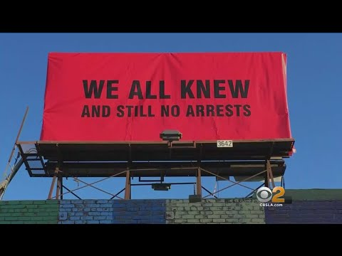 Far-Right Artist's 'Three Billboards' Homage In Hollywood Takes Aim At Oscars, #MeToo
