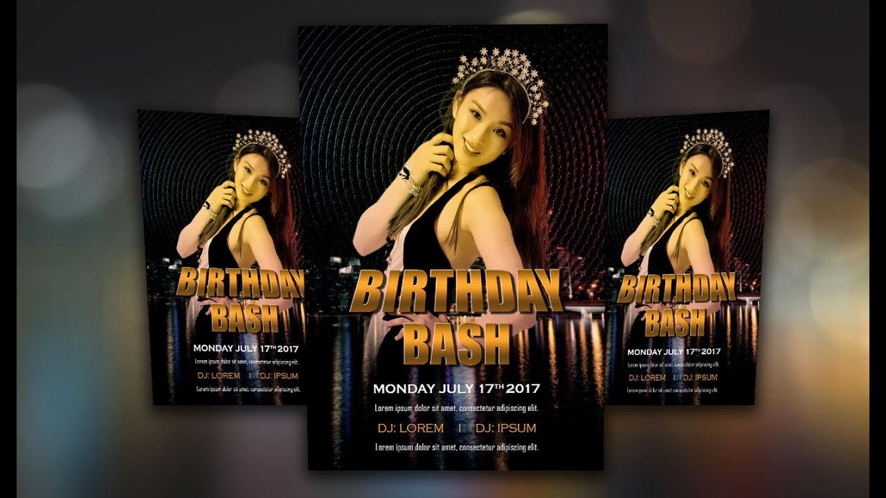 photoshop tutorial how to design a flyer birthday bash