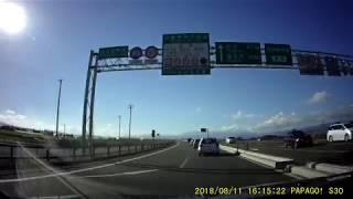 20180811 国道121号 会津若松IC付近から道の駅喜多の郷まで 4倍速