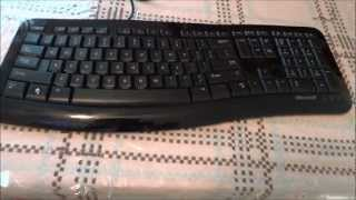 Microsoft Comfort Curve 3000 Keyboard - Unboxing and Video Review (HD)