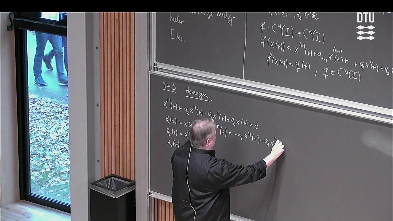 Uge 13 Store Dag (1/2) – Andenordens Differentialligninger – DTU Mat 1 E18 Skema B med Michael 01005