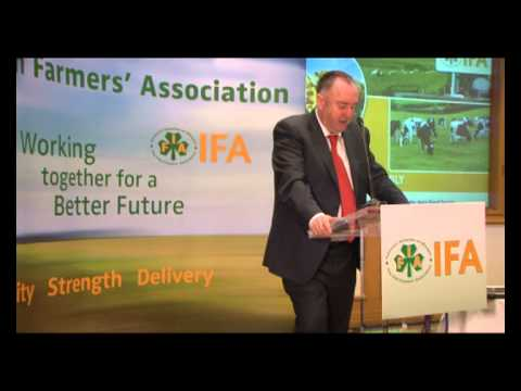 Growing the Agri-Food Sector Sustainably  - John Bryan, IFA President