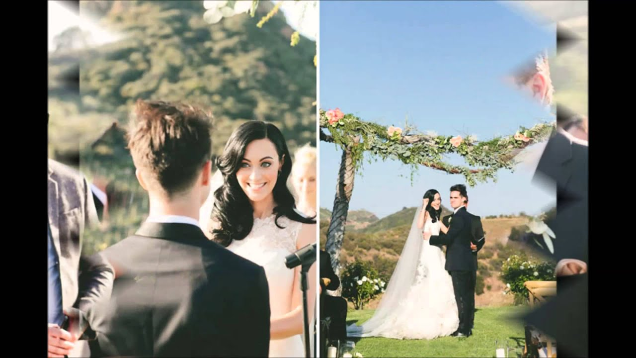 Happily married couple Brendon Urie and Sarah Orzechowski at their wedding ceremony