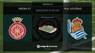 Calentamiento Girona FC vs Real Sociedad