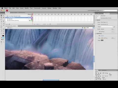 Animated Landscapes 1 - Adobe Flash Animation Tutorial
