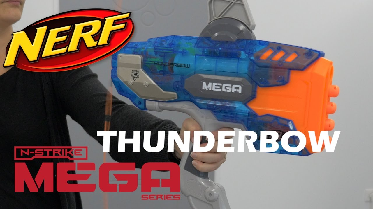 nerf mega thunderbow sonic ice d monstration du jouet arc pistolet youtube. Black Bedroom Furniture Sets. Home Design Ideas