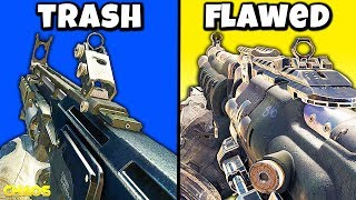 Top 10 WORST ASSAULT RIFLES in COD HISTORY (Personal List)