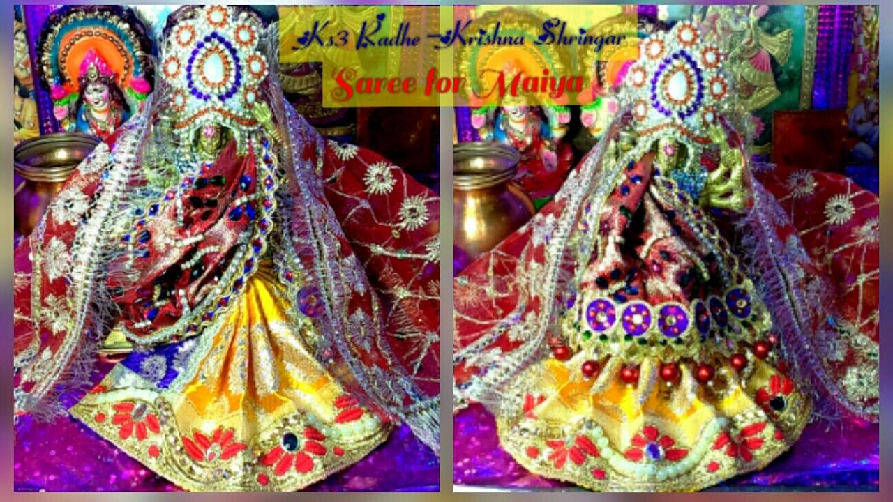 Designer Bnarsi Heavy work Saree/Lehnga saree Mata Rani/Durge Maa/Radha  Maa/Sita Mata-5,part-2/2