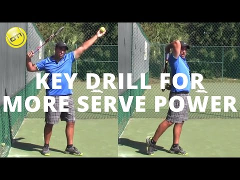 Tennis Serve Tip: A Key Drill For More Serve Power