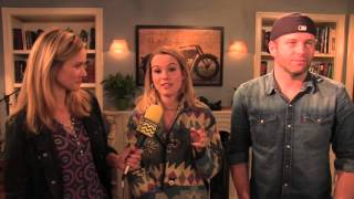 Bridgit Mendler & Brent Morin on the set of NBC's Undateable