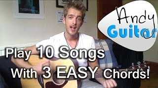 Play TEN guitar songs with three EASY chords | E, A and D