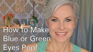 How To Do Eye Makeup to Make Blue or Green Eyes Pop!