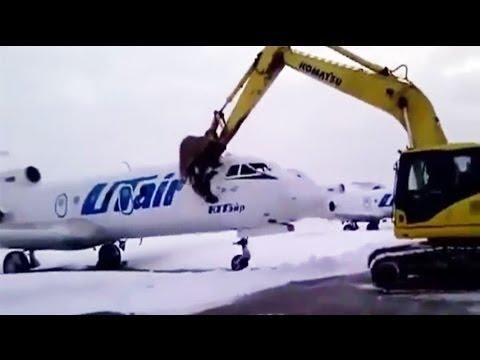 Lo echaron y destrozó un avión del aeropuerto