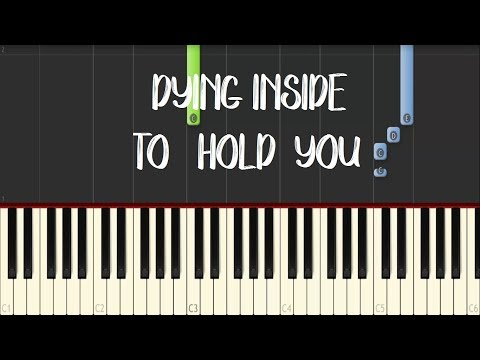 DYING INSIDE TO HOLD YOU- Darren Espanto (All Of You OST) || Synthesia Piano Tutorial (Easy)