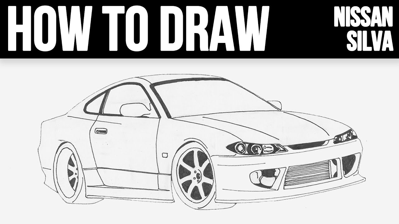 How To Draw Nissan Silvia Step By Step Youtube