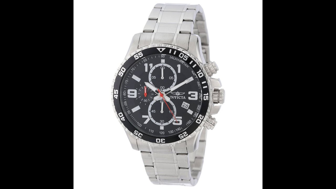 Invicta 14875 Men's Specialty Black Dial Steel Bracelet Chronograph Watch  Review Video