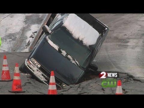 Dayton denies claim after sinkhole swallows truck