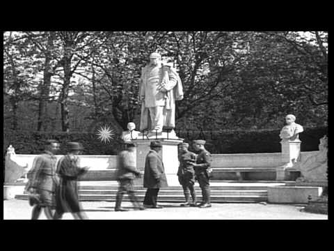 Views of downtown Berlin including Brandenburg Gate, Victory Column, Friedrich II...HD Stock Footage