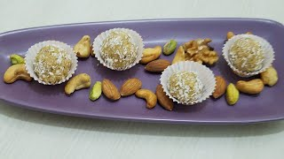 DRY FRUIT BISCUIT LADOO-NO COOK LADOO-QUICK&EASY TREAT IN URDU/HINDI BY KITCHEN WITH FATIMA