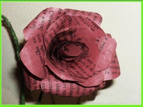 Manualidades flores de papel reciclado por georgio - Manualidades de papel reciclado ...