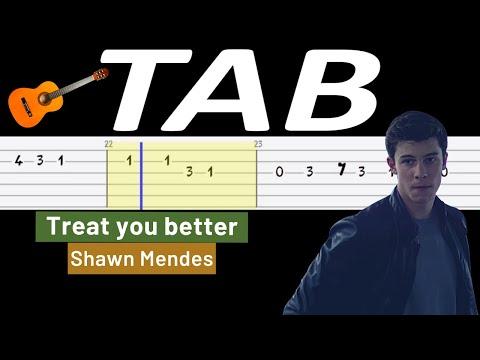 🎸 Treat you better (Shawn Mendes) - melodia TAB (gitara) 🎸