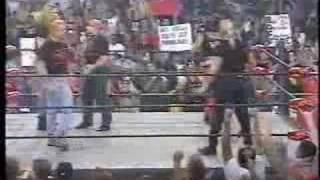 WCW Nitro - Lex Luger joins nWo Wolfpac