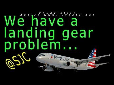 [REAL ATC] American GEAR PROBLEMS at San Jose SJC!