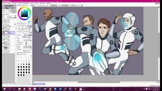 Lazer Team Speed Painting