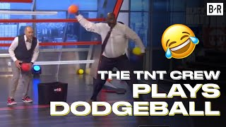 EJ and Shaq Dominate Chuck and Kenny Smith In Dodgeball | Inside the NBA