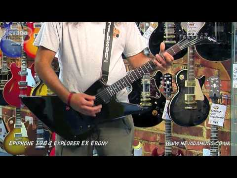 Epiphone 1984 Explorer EX Guitar Demo - PMT