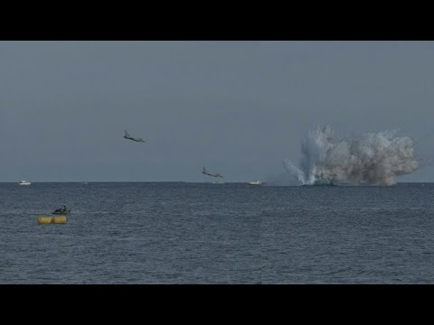 Eurofighter typhoon jet crashes at Italian air show