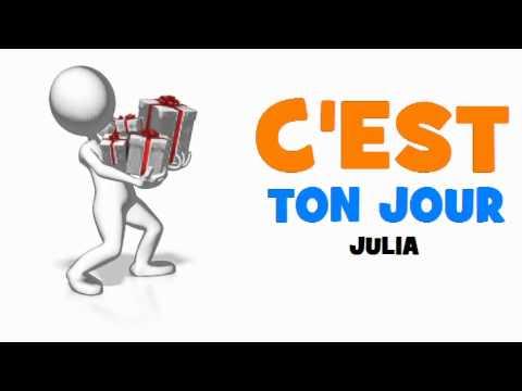 Joyeux Anniversaire Julia Youtube