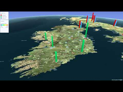 Power Map Visualization for Bookmakers in Dublin, Ireland